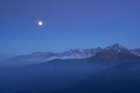 Moon over the Tatras