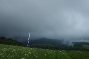 Lightnings in the Kaczawskie Mountains