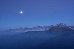 Moon over the Tatras